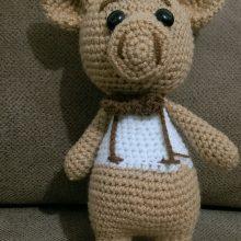 عروسک بافتنی کاموایی خوک – کد ۳