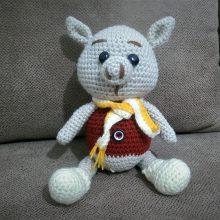 عروسک بافتنی کاموایی خوک – کد ۱